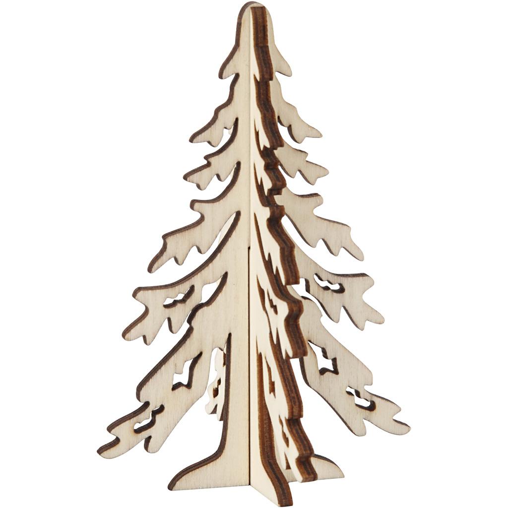 Billede af 3d Juletræ, H: 12,5 cm, B: 8,5 cm, 1 Stk.