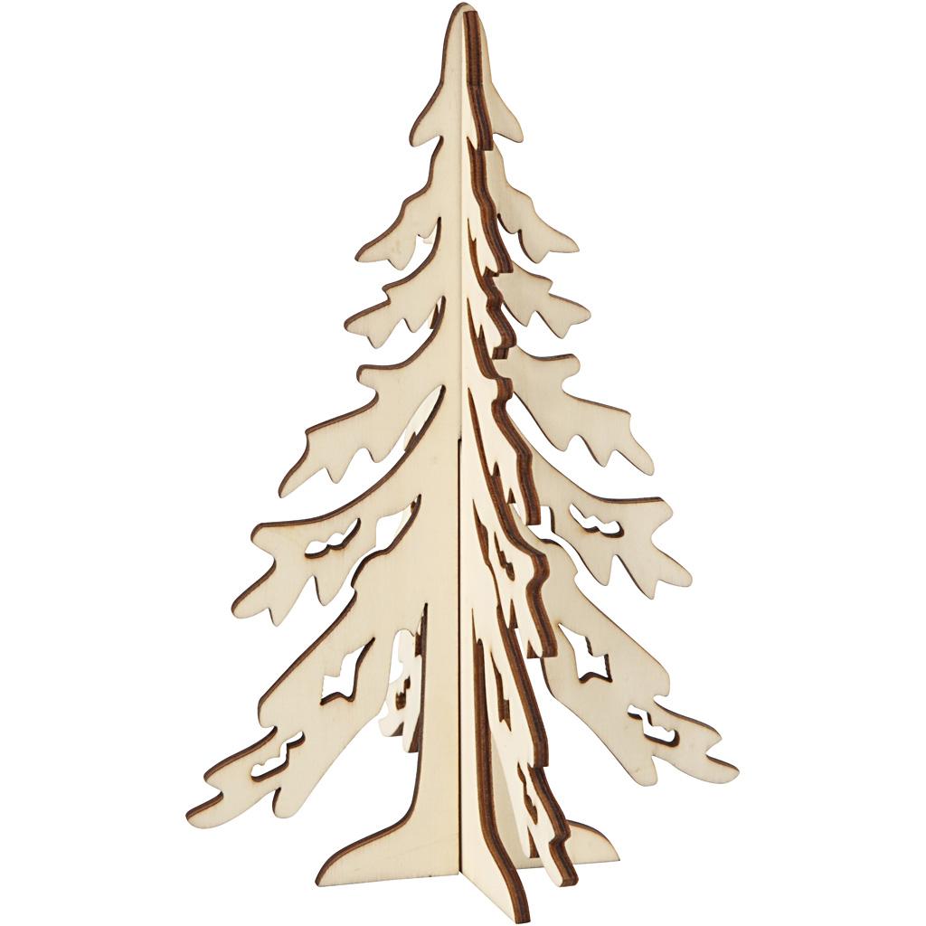 Billede af 3d Juletræ, H: 20 cm, B: 13 cm, 1 Stk.