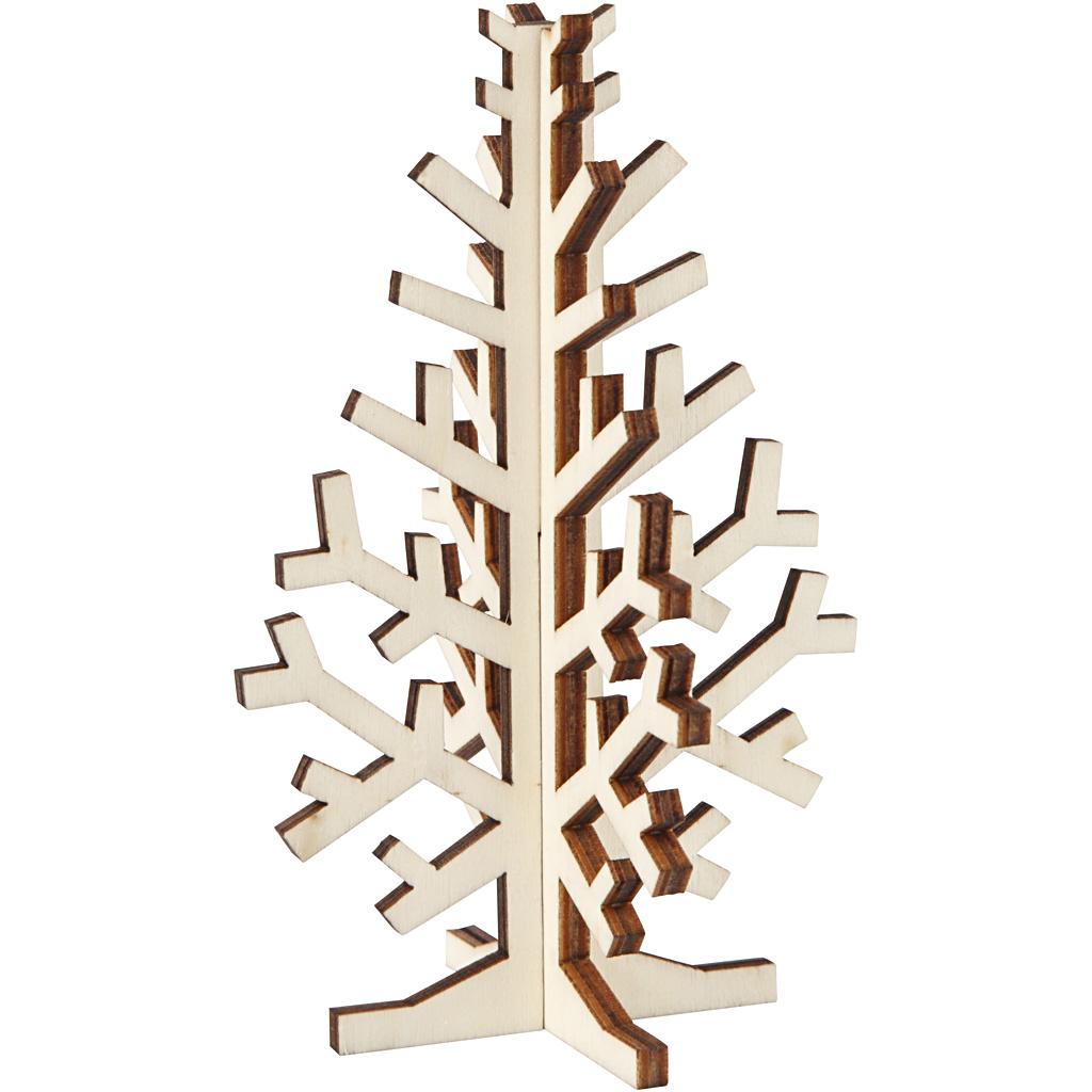 Billede af 3d Juletræ, H: 12 cm, B: 7,5 cm, 1 Stk.