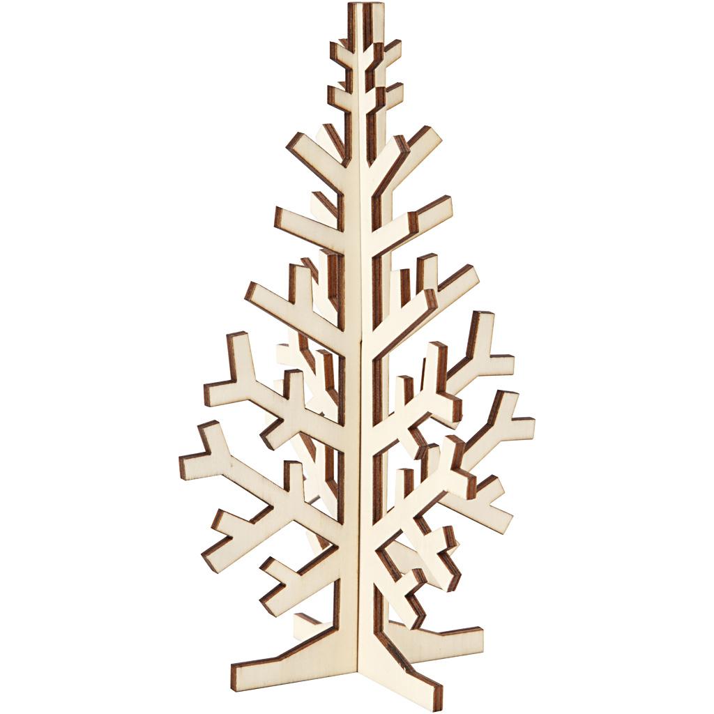 Billede af 3d Juletræ, H: 20 cm, B: 12 cm, 1 Stk.
