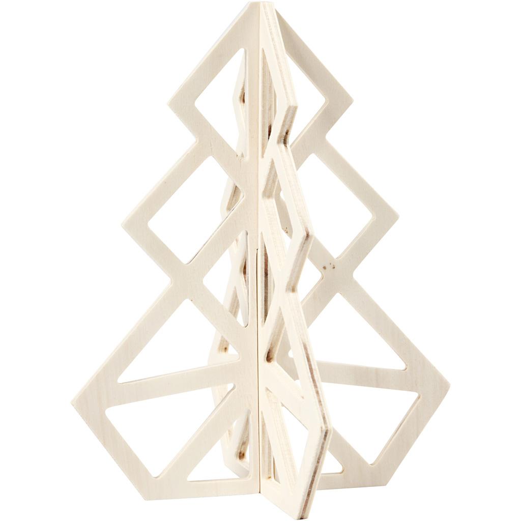 Billede af 3d Juletræ, H: 20 cm, B: 16 cm, 1 Stk.